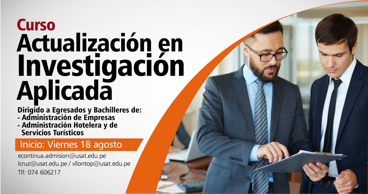 Curso de Actualización en Investigación Aplicada en Administración de Empresas y Administración Hotelera y de Servicios Turísticos