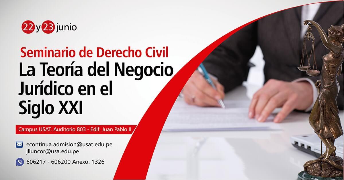 Seminario de Derecho Civil: La Teoría del Negocio Jurídico en el Siglo XXI