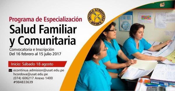 Especialización Enfermaría – Salud Familiar y Comunitaria