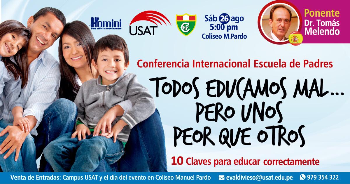 Conferencia Internacional. Todos educamos mal… pero uno peor que otros.