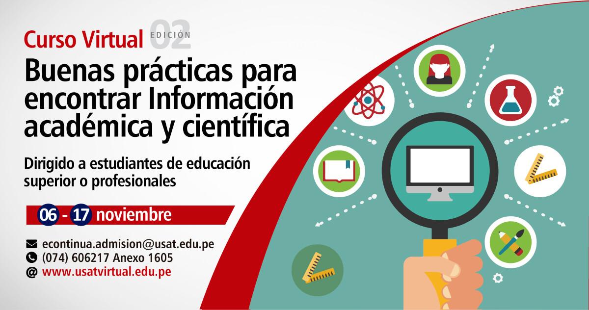 Curso Virtual. Buenas prácticas para encontrar Información académica y científica