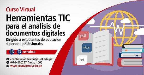 Curso Virtual. Herramientas TIC para el análisis de documentos digitales