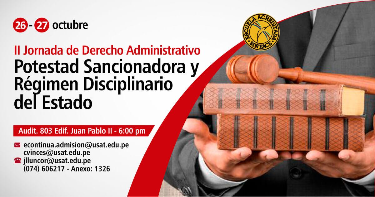 II Jornada de Derecho Administrativo. Potestad Sancionadora y Régimen Disciplinario del Estado