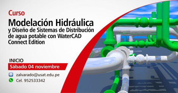 Curso. Modelación Hidráulica y Diseño de Sistemas de Distribución de agua potable con WaterCAD Connect Edition