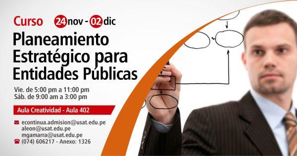 Curso de Planeamiento Estratégico para Entidades Públicas (PEI, POI) en el Marco del Ingreso del Perú a la OECD