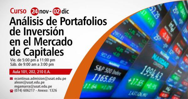 Curso Taller en Análisis de Portafolios de Inversión en el Mercado de Capitales