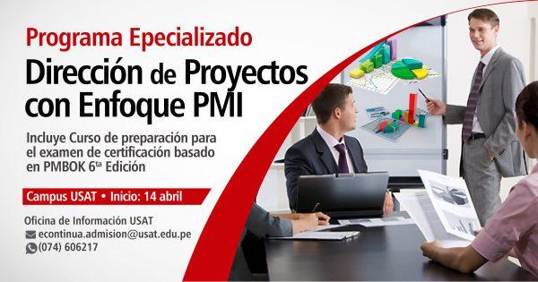 Programa especializado: Dirección de Proyectos con Enfoque PMI