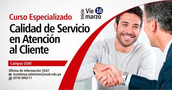 Curso Especializado: Calidad de Servicio en Atención al Cliente
