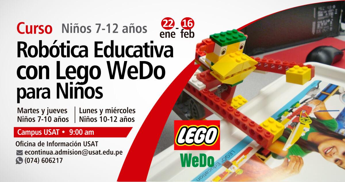 Curso: Robótica Educativa con Lego WeDO para Niños