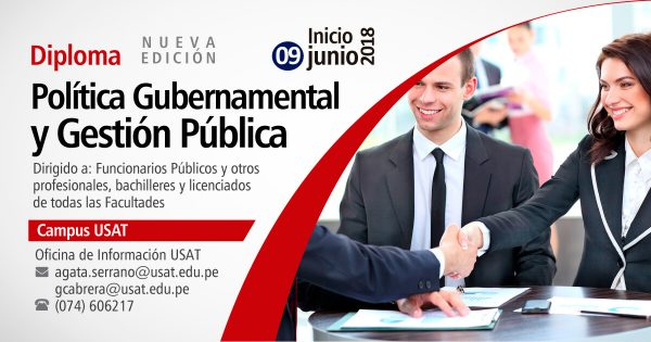 Diploma. Política Gubernamental y Gestión Pública