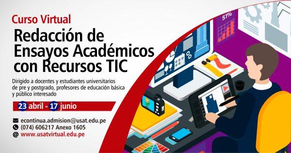 Curso Virtual. Redacción de Ensayos Académicos con Recursos TIC