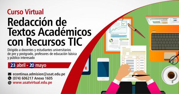 Curso Virtual. Redacción de Textos Académicos con Recursos TIC