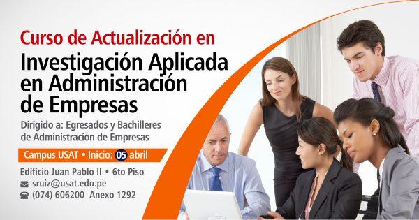 Curso de Actualización en Investigación Aplicada en Administración de Empresas
