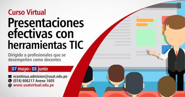 Curso Virtual. Presentaciones efectivas  con herramientas TIC