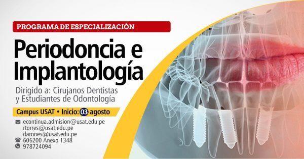 Programa de especialización en Periodoncia y Implantología