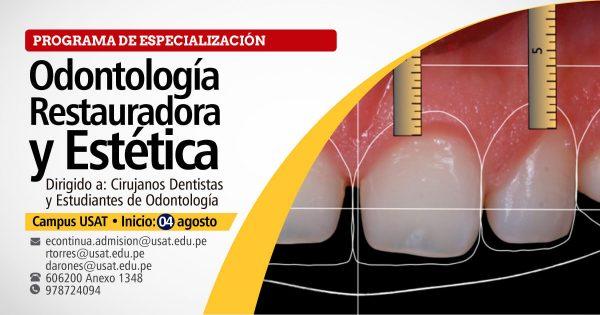Programa de especialización en Odontología Restauradora y Estética