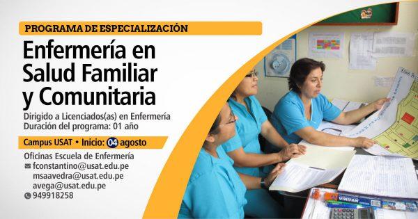 Programa de Especialización. Enfermería en Salud Familiar y Comunitaria