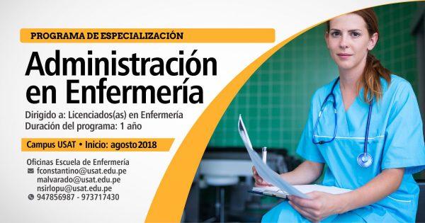 * Programa de especialización. Administración en Enfermería