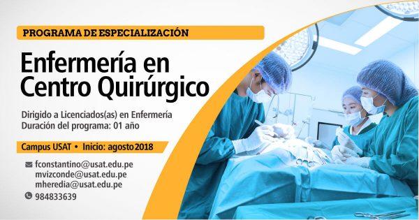 * Programa de Especialización. Enfermería en Centro Quirúrgico
