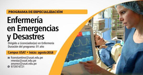 * Programa de Especialización: Enfermería en Emergencias y Desastres