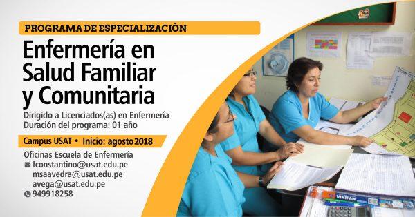 * Programa de Especialización. Enfermería en Salud Familiar y Comunitaria