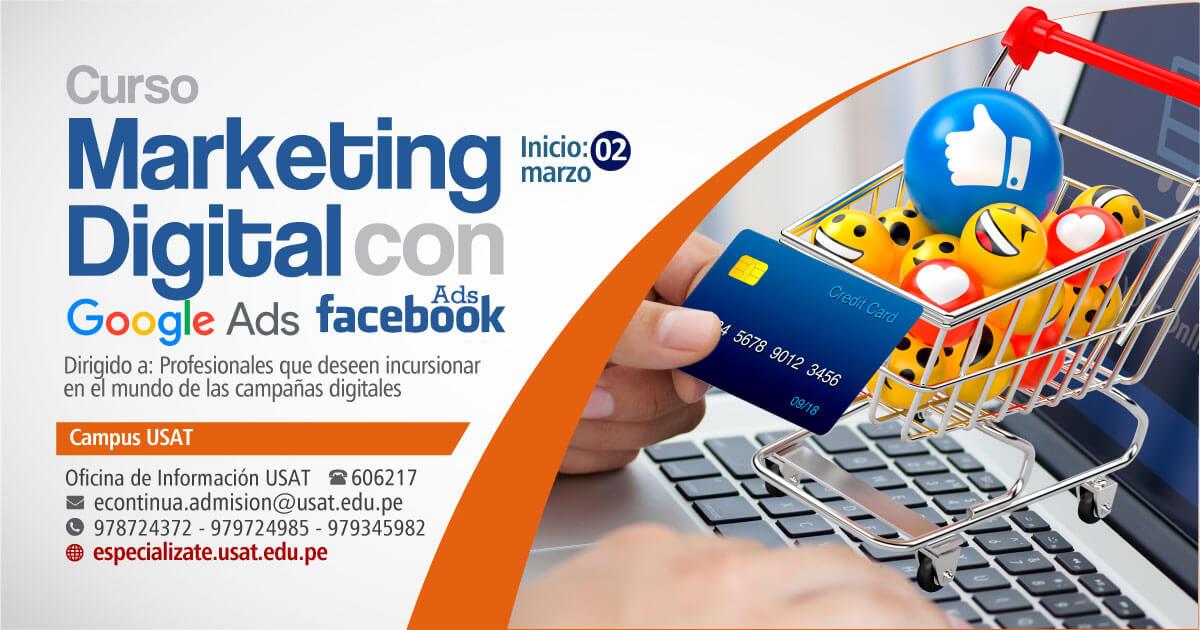 * Marketing Digital para negocios con Google Adwords & Facebook Ads