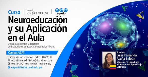 Curso. Neuroeducación y su aplicación en el aula