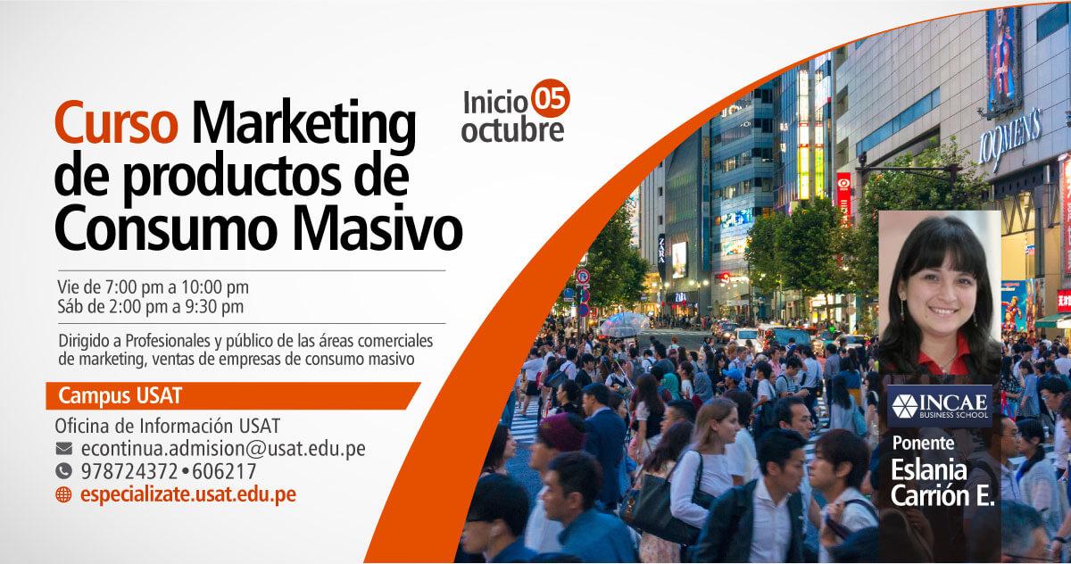 * Curso. Marketing de productos de Consumo Masivo
