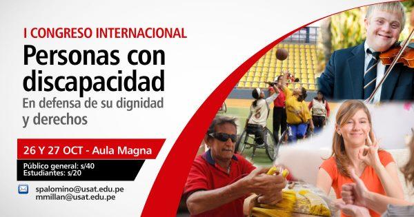 * I Congreso Internacional. Personas con discapacidad – En defensa de su dignidad y derechos