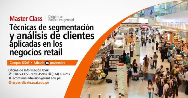 * Master Class. Técnicas de segmentación y análisis de clientes aplicadas en los negocios retail