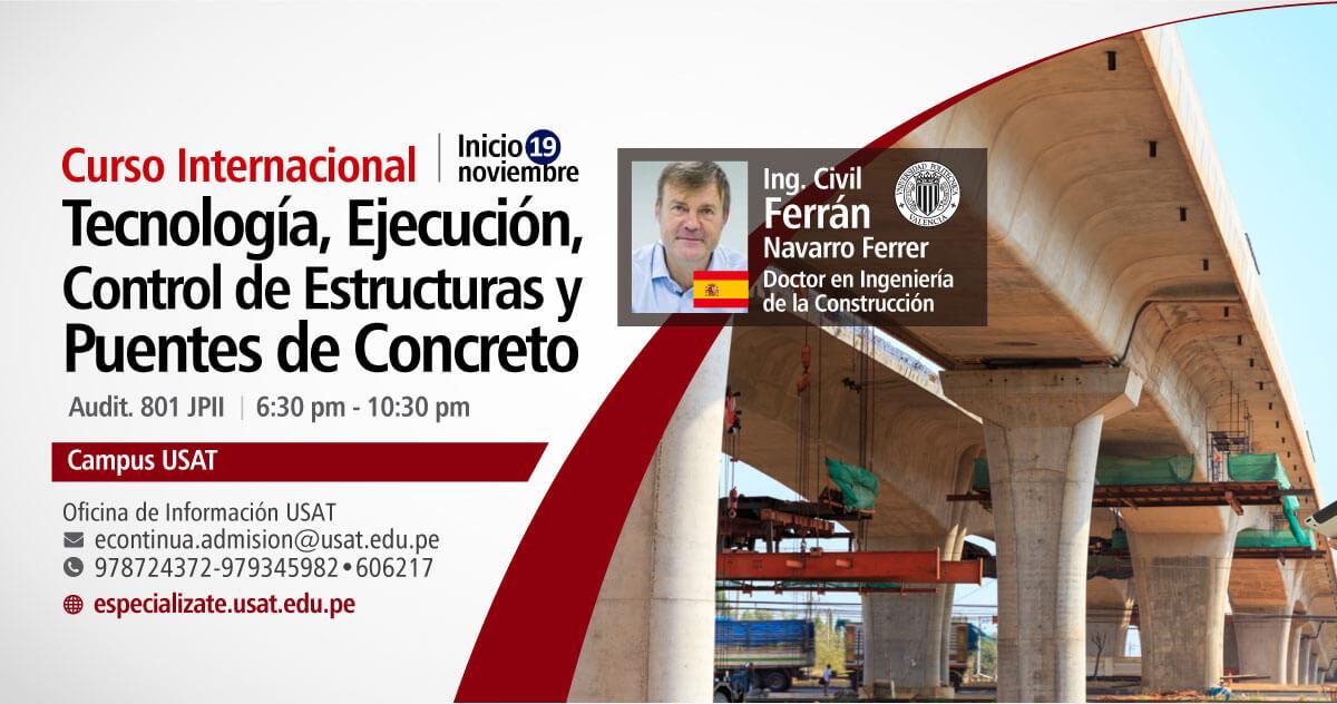 Curso Internacional. Tecnología, Ejecución, Control de Estructuras y Puentes de Concreto