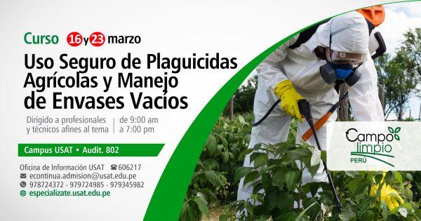 Curso Uso seguro de Plaguicidas Agrícolas y manejo de envases vacíos