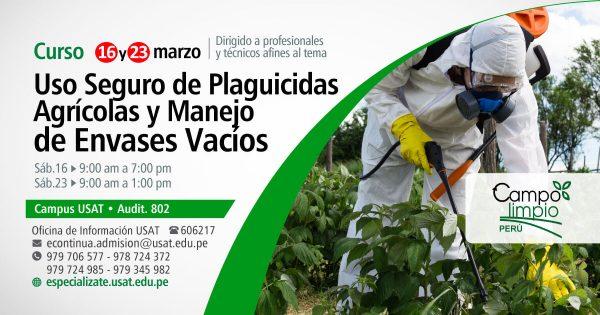 * Curso Uso seguro de Plaguicidas Agrícolas y manejo de envases vacíos