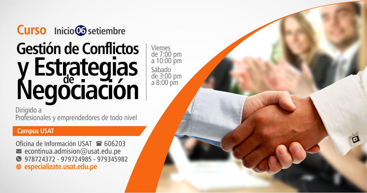 Curso. Gestión de conflictos y estrategias de negociación