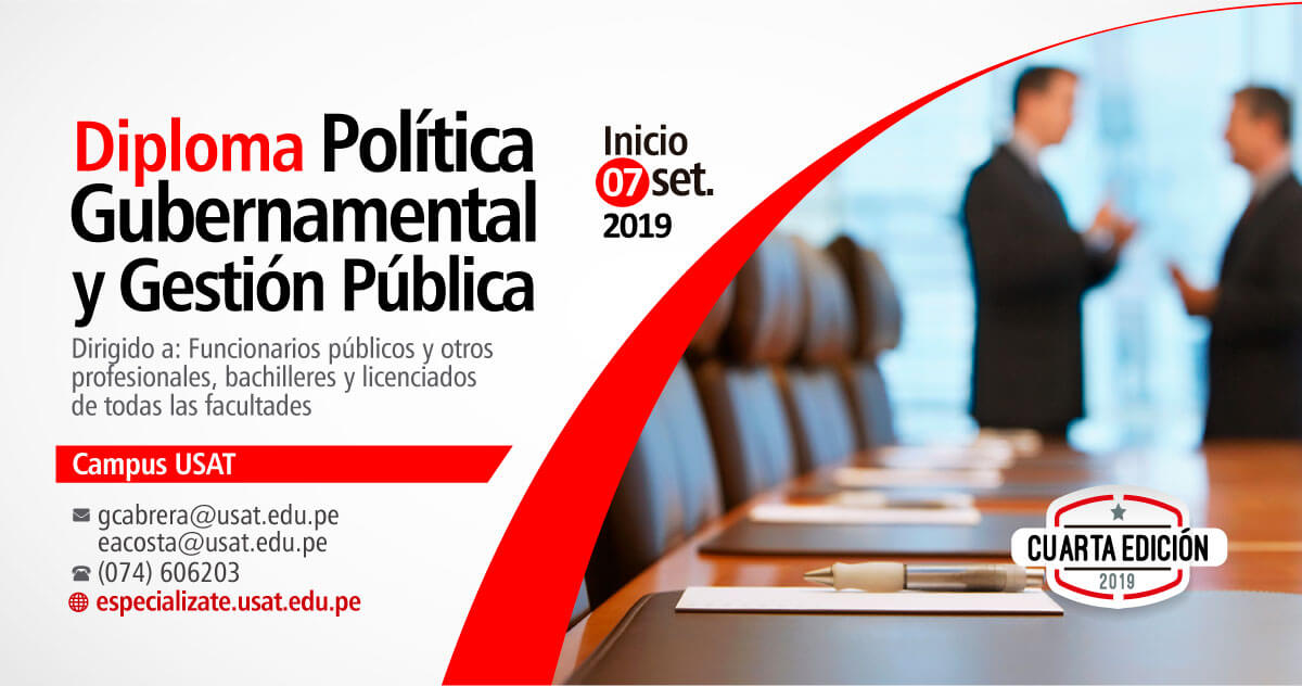 Diploma en  Política Gubernamental y Gestión Pública
