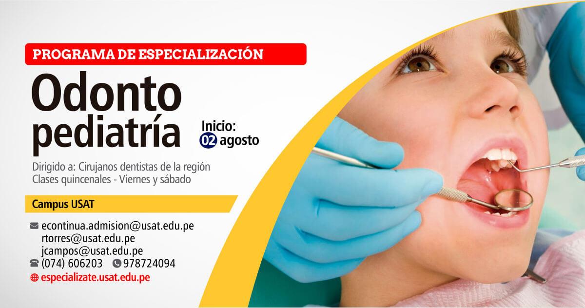 Programa de especialización – Odontopediatría