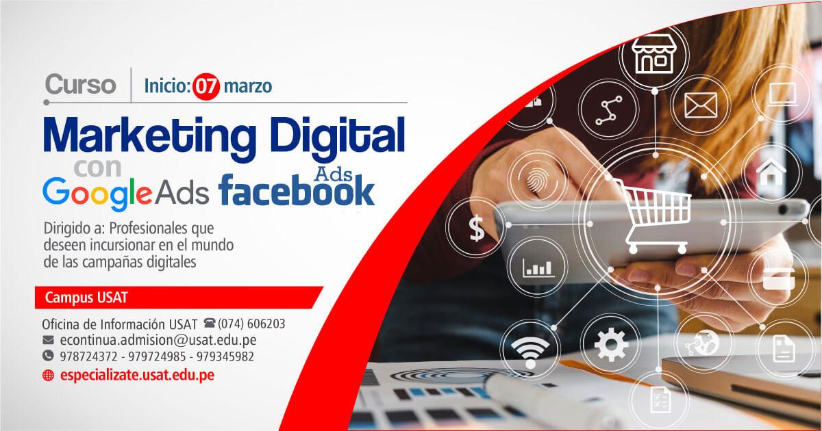 Marketing Digital con Google Ads & Facebook Ads