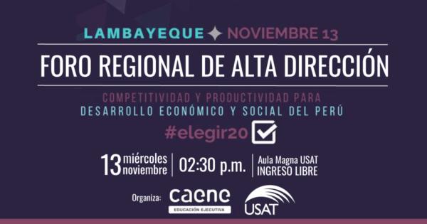 [NO VIGENTE] Foro regional de Alta Dirección