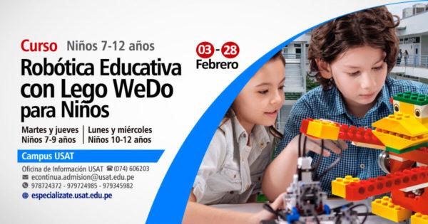 [NO VIGENTE] Curso: Robótica Educativa con Lego WeDO para Niños