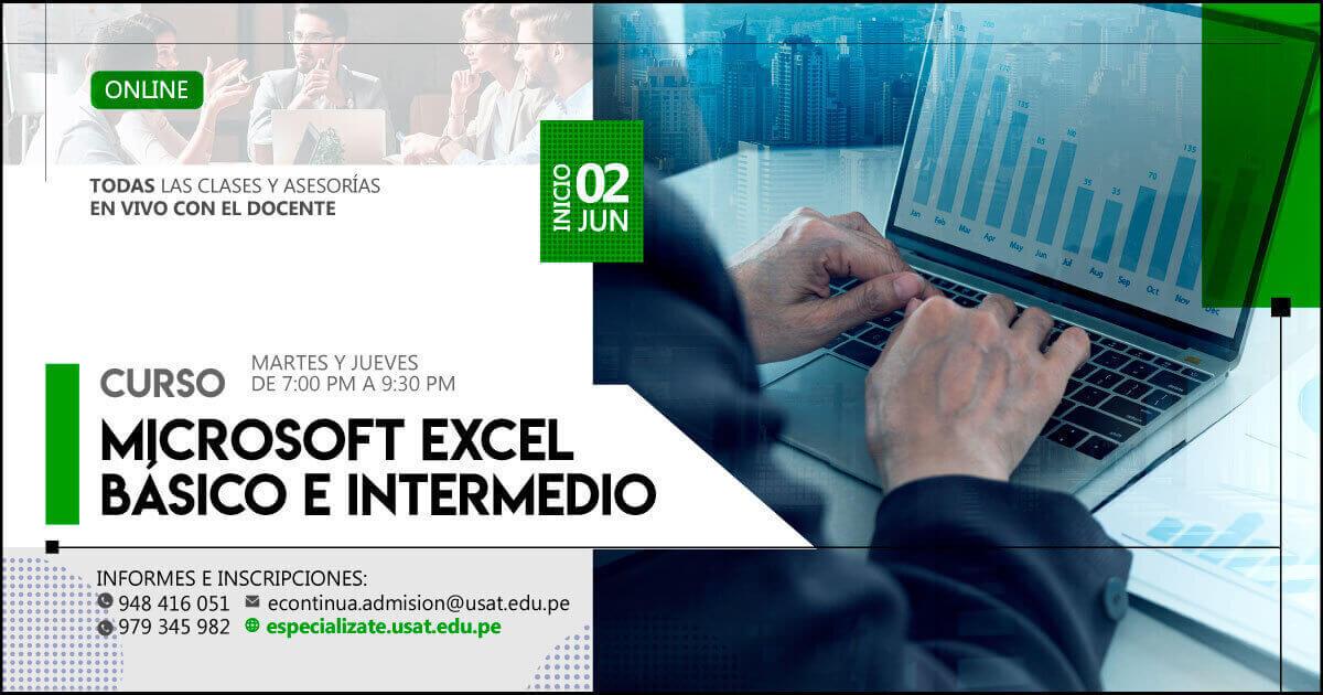 (No vigente) Curso Online. Microsoft Excel básico e intermedio