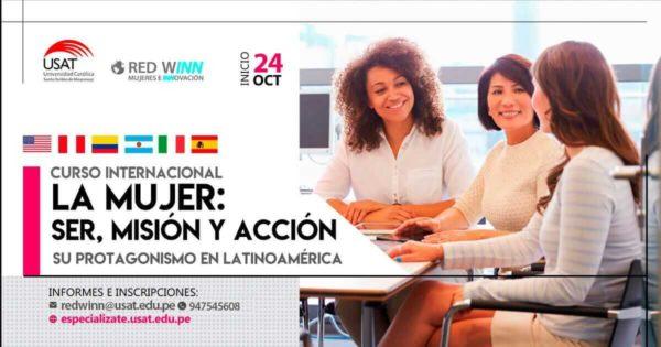"""(NO VIGENTE) Curso Internacional """"La mujer: Ser, misión y acción. Su protagonismo en Latinoamérica"""""""