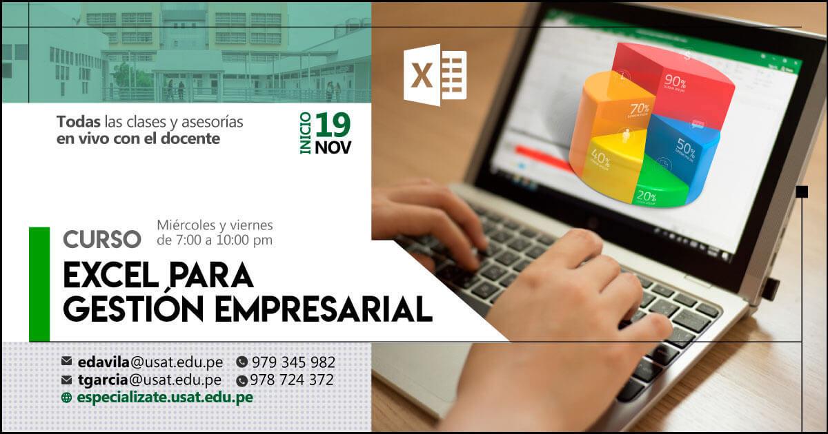 Curso. Excel para Gestión Empresarial