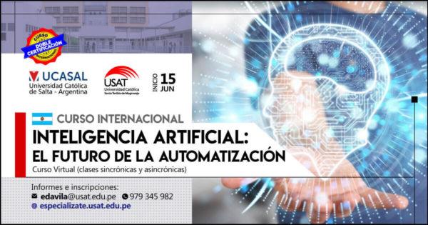 Curso Internacional Virtual – Inteligencia Artificial:  El futuro de la automatización