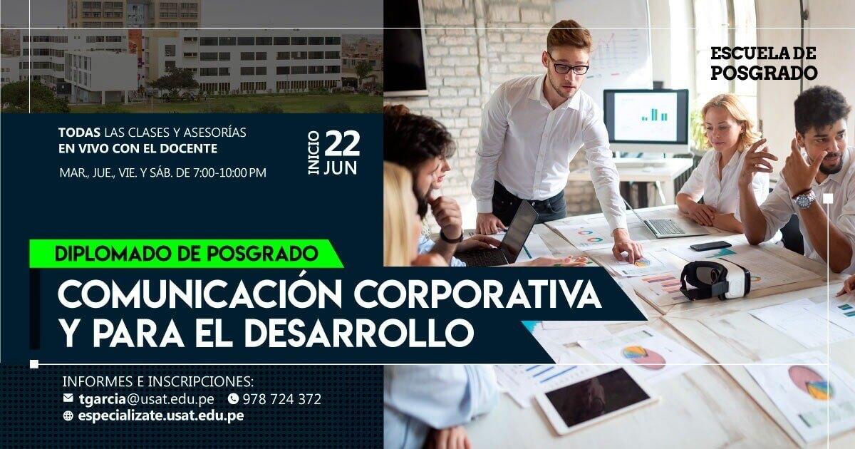 Diplomado de postgrado. Comunicación corporativa y para el desarrollo