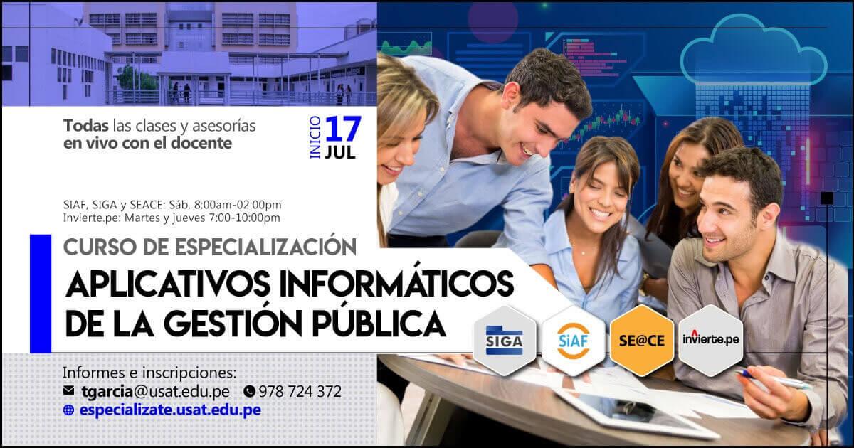 (NO VIGENTE) Curso de Especialización:  Aplicativos Informáticos de la Gestión Pública