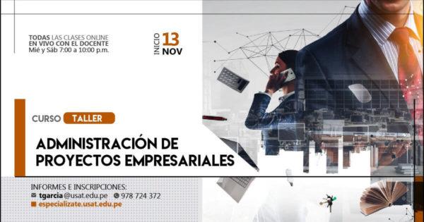 Curso taller: Administración de Proyectos Empresariales